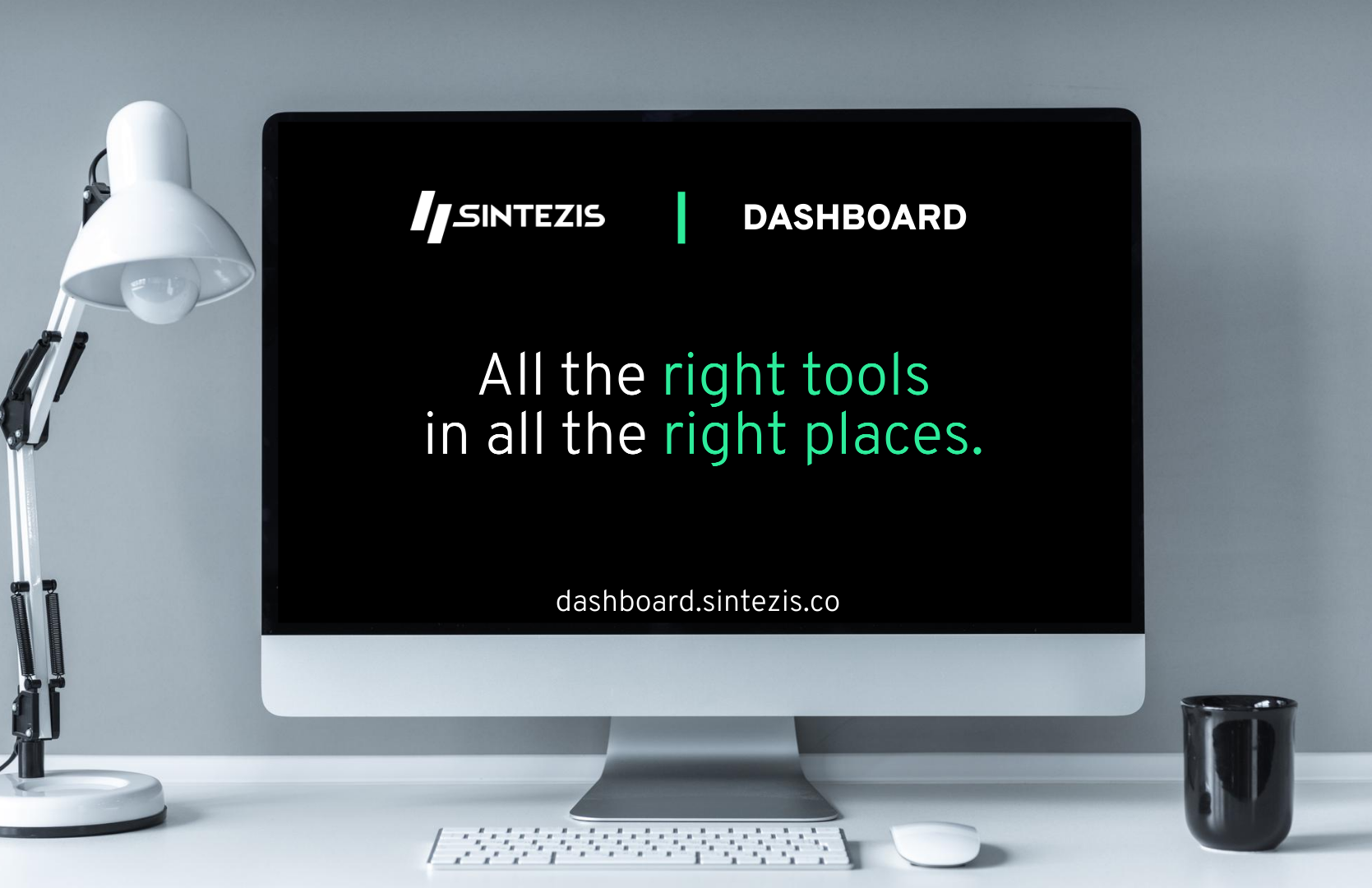 Sintezis Dashboard landing visual